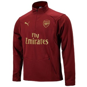 [해외][Order] 18-19 Arsenal Training Fleece Top - Pomegranate
