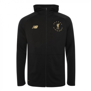 [해외][Order] 19-20 Liverpool 6 Times Signature Collection Euro Zip Through Hoody Jacket - Black