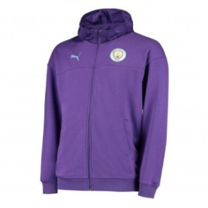 [해외][Order] 19-20 Manchester City Casuals Zip/Thru Hoody Jacket - Tillandsia Purple