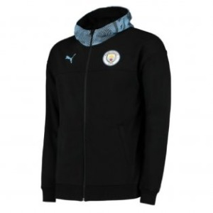 [해외][Order] 19-20 Manchester City Casuals Zip/Thru Hoody Jacket - Puma Black