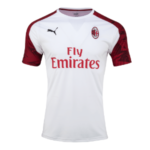 19-20 AC Milan Training Jersey - White
