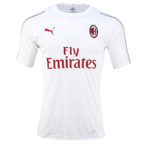 18-19 AC Milan Training Jersey - White