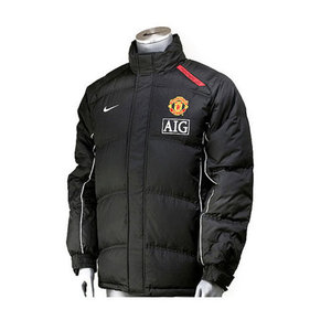 07-08 Manchester United Down Filled Jacket - Black