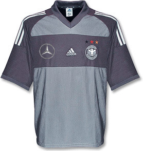 01-03 Germany Authetic Away (Benz Spon Ver/Player Issue/Dual Layer)+ 18 DIESLER + 2002 W/C Patch(Size:M)