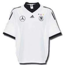 01-03 Germany Authentic Home (Benz Spon Ver/Player Issue/Dual Layer)+ 13 BALLACK + 2002 W/C Patch (Size:M)